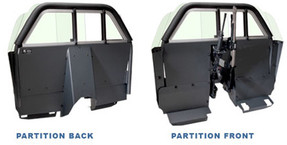 Setina Law Enforcement Partition Cage with Recessed Panel for Cars SUVs Trucks and Vans for Prisoner Transport, ideal for gun rack mounting and longer consoles