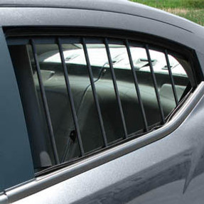 Progard Law Enforcement Car Sedan and SUV Rear Window Guards, Pair. Kit