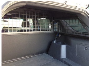 Troy Ford Law Enforcement Interceptor SUV Utility (Explorer) Rear Partition Cage, Cargo Barrier 2013-2019, covers side rear windows also