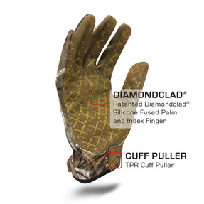 IronClad EXO Tactical Realtree Grip Glove with Diamondclad® Silicone Fused Palm and Index Finger
