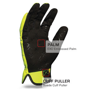 IronClad EXO Tactical Public Safety Yellow Glove with Reflective Accents and Hi-Viz Color