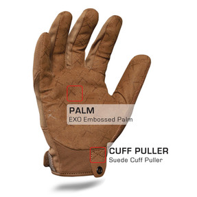 IronClad EXO Tactical Operator Coyote Pro Glove with Suede Cuff Puller