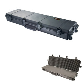 Pelican iM3300 Storm Rifle and Shotgun Long Case With Three Double-layered, Soft-grip Handles, Hard Case with Optional Foam Insert, Available in Black or OD Green, 55 x 18 x 8, 26 lbs (22 lbs w-out foam insert)