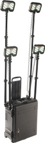Pelican 9470 Remote Area Scene Light System with Four Telescoping LED Light Heads, Bluetooth Remote Activation, Available in Black or Yellow