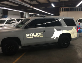 Chevy Tahoe Law Enforcement K-9 Vehicle Ghost Graphic Decals, any color