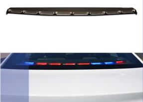 Sound-off Ford Law Enforcement Interceptor Sedan (Taurus) n-Force Rear Deck Facing Interior LED Light bar ENFWBRF, Single color per light-head, includes shroud to reduce flash-back, 2013-2019