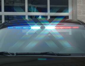 Sound-off Ford Law Enforcement Interceptor Utility SUV (Explorer) n-Force Interior Front Facing LED Light Bar, Single Color or Dual Color per lighthead, ENFWBF, 2013-2019 and 2020