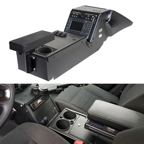 Gamber Johnson 7170-0137-01 Dodge Charger Law Enforcement Package (2011-2020) Console Box with Cup Holder and Armrest Kit, does not require a Leg Kit or MCS Top Plate, includes faceplates and filler panels