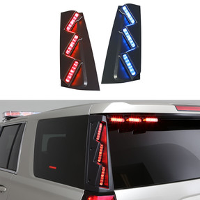 Whelen Outer Edge® Rear Pillar Chevy Tahoe 2015-2020 RPW-45, 2021+ RPW-54, Exterior Vertical Mount Light Bar, DUO or TRIO ION™ Super-LED®