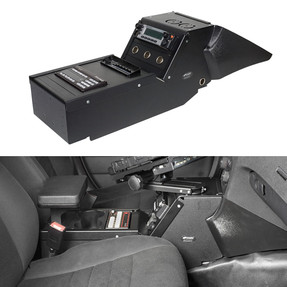 "Gamber Johnson 7160-0353 Dodge Charger Law Enforcement Package (2011-2020) 10.5"" Console Box, includes faceplates and filler panels"