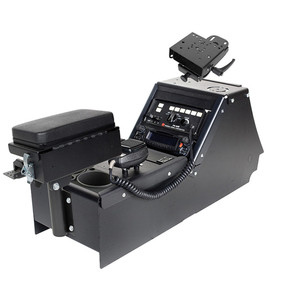 "Gamber Johnson 7170-0165-06 Ford Law Enforcement Interceptor Sedan 2012-2019 Console Box with Cup Holder, Printer Armrest and 6"" Locking Slide Arm Motion Attachment Kit, includes faceplates and filler panels"