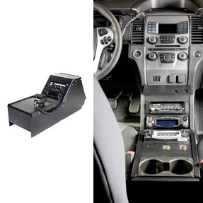Gamber Johnson 7160-0410 Ford Law Enforcement Interceptor Sedan (Taurus) 2012-2019 Console Box, includes faceplates and filler panels