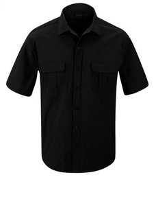 Propper® F5374 Men's Summerweight Tactical Button-Down Shirt, Casual or Uniform, Short Sleeve, Polyester/Spandex, 2 Chest Pockets, Light-Weight, Breathable, available in black, khaki, olive and LAPD Navy