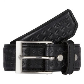 """5.11 Tactical  1.5"""" Basketweave Leather Belt, available in Black 59503"""