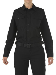 5.11 Tactical 62010 WOMEN'S 5.11 STRYKE®, PDU® Class-B Uniform Long Sleeve Shirt, Badge Tab, Mic Loop, available in Black and Midnight Navy Blue