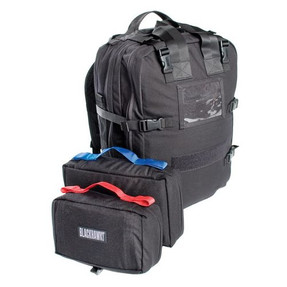 BLACKHAWK 60MP01 S.T.O.M.P. II™ MEDICAL COVERAGE PACK (JUMPABLE), 1000 denier nylon with reinforced stitching, Webbing on underside for accessory packs or medic/sleeping rolls, Multiple small and medium pockets, Several flat netted zipper pockets