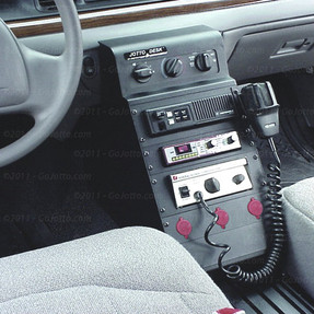 Crown Victoria Law Enforcement Equipment Console Package 12 Inch Climate Control Console with 28 Inch Floor Plate by Jotto Desk 1997-2012, includes faceplates and filler panels