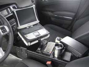 Charger Law Enforcement Console 24 Inch by Havis 2011-2020, includes faceplates and filler panels