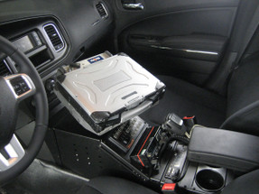 Charger Law Enforcement Console by Havis 17 Inch 2011-2020, includes faceplates and filler panels