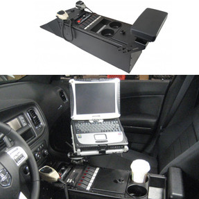 Charger Law Enforcement Console 25 Inch by Havis 2011-2020, provides additional depth for mounting equipment, includes faceplates and filler panels