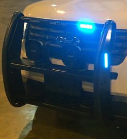 Setina LED Push Bar Brush Guard PB-450-L, for Law Enforcement, Fire, Security, fits Sedans SUVs Pickup Trucks Vans