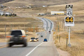 Pole Mount Radar Speed Signs by WANCO, AC or Solar Powered IN STOCK