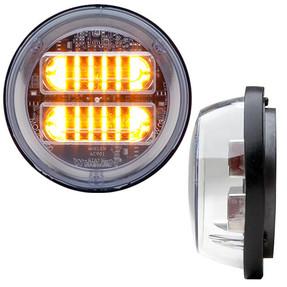 Whelen PAR32 Amber 4 Inch Round Clear Extended Lens LED Lighthead