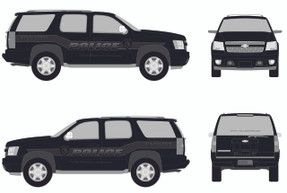 Tahoe Law Enforcement Vehicle Graphics Decal Kit FS-10