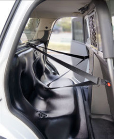 PTS Law Enforcement Plastic Prisoner Transport Seat System with Cargo Barrier for Ford Interceptor Utility SUV