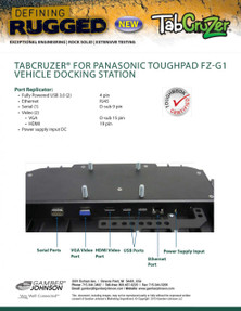 TabCruzer® Panasonic Toughpad FZ-G1 Vehicle Docking Station by Gamber-Johnson
