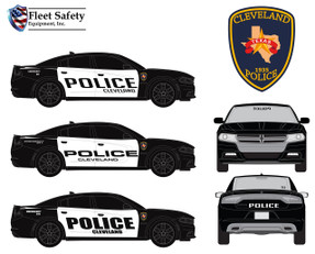 Charger Law Enforcement Vehicle Graphics Decal Kit 2155