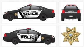Chevy Caprice Law Enforcement Vehicle Graphics Decal Kit 2156