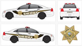 Chevy Caprice Law Enforcement Vehicle Graphics Decal Kit 2158