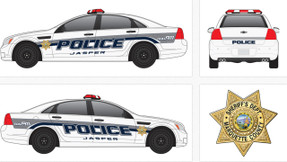 Chevy Caprice Law Enforcement Vehicle Graphics Decal Kit 2159