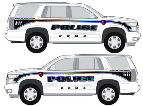 Tahoe Law Enforcement Vehicle Graphics Decal Kit FS-21