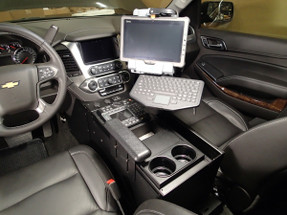 """Tahoe 2015-2020 Law Enforcement Console 20"""" Wide Body by Havis, includes faceplates and filler panels"""