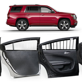 Rear Window Barrier Guards for 2015-2020 & 2021+ Chevy Tahoe by Pro-Gard, Pair, Kit