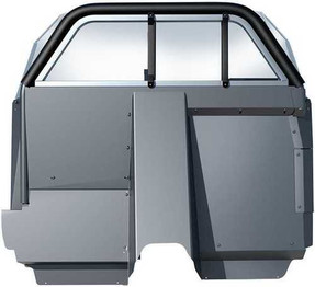 Setina Chevy Tahoe 2015-2020 & 2021+ SUV Law Enforcement Prisoner Partition XL Cage provides extra legroom for prisoner and more space for drivers seat
