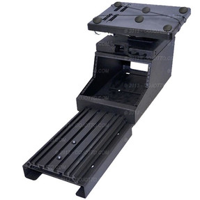 Charger Law Enforcement Equipment Console and Laptop Mount Workstation AK-7  by Jotto Desk 2011-2020, includes faceplates and filler panels