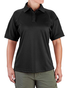 Propper F5329 Women's Snag-Free Tactical Polo Shirt, Short Sleeve, Sternum Mic Loop, 100% Polyester Double Pique Knit, Available in Black, Gray, SIlver Tan, Green and LAPD Navy