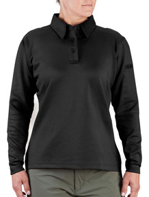 Propper F5357-72 Women's I.C.E.® Tactical Polo Shirt, Long Sleeve, Polyester/Spandex, Shoulder and Sternum Mic Clips
