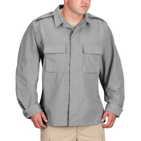Propper®  F5452BDU Tactical Uniform Button-Down Long Sleeve Uniform Shirt, Fade-, Shrink- and Wrinkle-Resistant, 2 Chest Pockets with Hidden Button Flaps, Polyester/Cotton