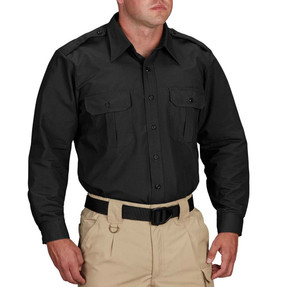Propper® F5302, Tactical Long Sleeve Button-Down Uniform Shirt, 2 Chest Pockets, Badge Tab, Polyester/Cotton