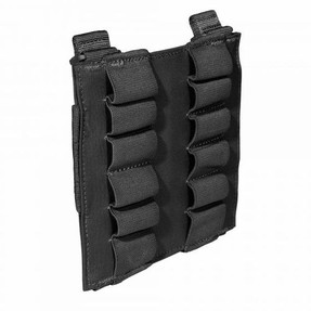 5.11 Tactical 12 ROUND SHOTGUN POUCH, 500D nylon for lightweight resilience, Open design for quick access, Web platform and belt attachment compatible, 56165