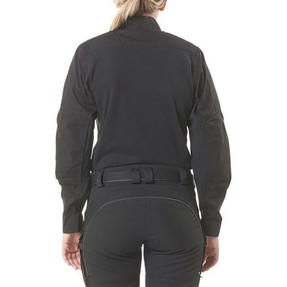 5.11 Tactical 62023WMN WOMEN'S XPRT® RAPID LONG SLEEVE SHIRT, 1/4 Zip Uniform Pullover Jacket, Badge Tab, Shoulder Mic Loop, Durable YKK® Zipper Closures, Cotton/CORDURA