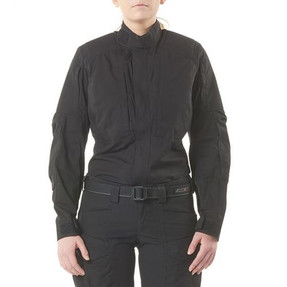 5.11 Tactical 62024 WOMEN'S XPRT® TACTICAL LONG SLEEVE SHIRT, 1/4 Zip Uniform Pullover Jacket Articulated and Reinforced Elbows With Elbow Pad Pockets, Badge Tab Cotton/CORDURA