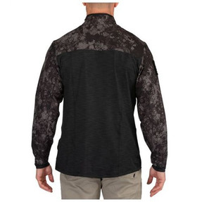 5.11 Tactical Geo7 Rapid Half Zip Pullover, available in Black/Camo or Tan/Camo, 72415G7