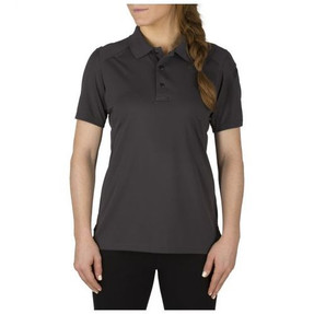 5.11 Tactical 61305 WOMEN'S HELIOS SHORT SLEEVE POLO, Polyester, Shoulder Mic Loop, Sternum Mic Loop, available in Black, Dark Navy, Silver Tan, and Charcoal