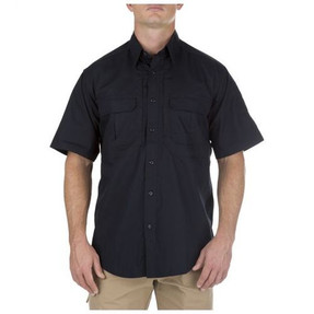 5.11 Tactical 71175 TacLite Pro Short Sleeve Casual Button-Down Tactical Shirt, 2 Chest Pockets, Polyester/Cotton available in Black, TDU Khaki, White, Charcoal Grey, TDU Green, and Dark Navy Blue