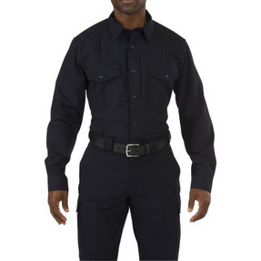 5.11 Tactical 72074 Stryke PDU Class-B Long Sleeve, Button-Down Uniform Shirt With Badge Tab and Mic Loop, available in Black, or Midnight Navy